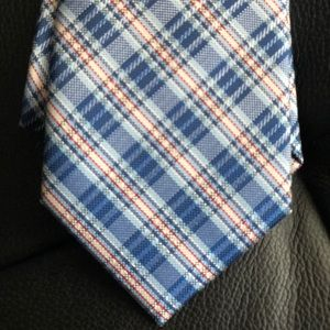 U.S. Polo Assn. Red and Blue Tie and Pocket Square